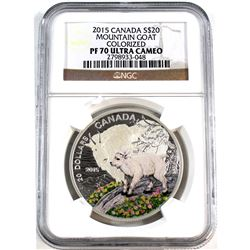 2015 Canada $20 Mountain Goat - Baby Animals Series NGC Certified PF-70 Ultra Cameo (Tax Exempt)