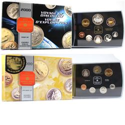 2000 Knowledge Specimen Set & 2000 Canada Voyage of Discovery Commemorative Proof set. Coins come wi