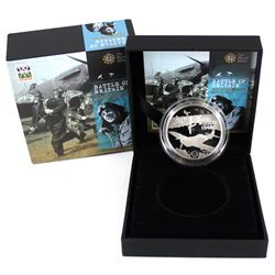 2010 Alderney 5 pounds Proof Silver coin Commemorating the 70th Anniversary of the battle of Britain