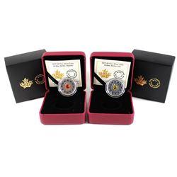 2x 2017 Canada $5 Zodiac Series - Leo & Gemini Fine Silver Coins (Tax Exempt). 2pcs