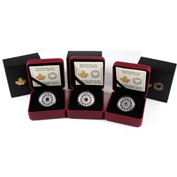 2017 Canada $5 Zodiac Series - Scorpio, Sagittarius & Capricorn Fine Silver Coins (Tax Exempt). 3pcs