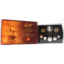 2004 Canada Proof Double Dollar Set issued by the RCM, Commemorating the 400th Anniversary of the Fi