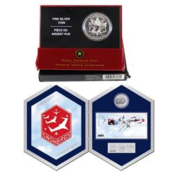 2006 Snowbirds $5 pure Silver Set with Stamps& 2005 Canada $5 End of WWII 60th Anniversary Fine Sil