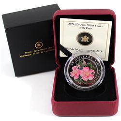 2011 Canada $20 Swarovski Crystals - Wild Rose Fine Silver (No Tax)