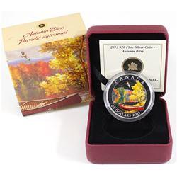 2013 Canada $20 Autumn Bliss Fine Silver Coin (Tax Exempt)
