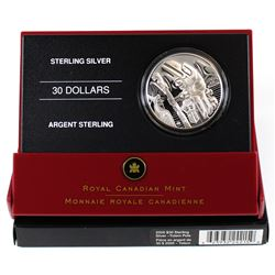 2005 Canada $30 Totem Pole Sterling Silver Coin. Comes encapsulated in the original Mint Display wit
