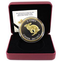 2017 Canada 5-cent Alex Colville Designs Big Coin Series 5oz. Fine Silver Coin (Tax Exempt). Coin co