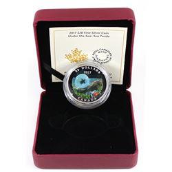 2017 Canada $20 Under the Sea - Sea Turtle Fine Silver Coin (Tax Exempt). Coin comes encapsulated wi
