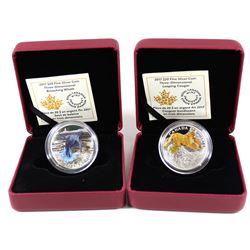 2017 Canada $20 Breaching Whale & 2017 Leaping Cougar Three-Dimensional Fine Silver Coins (Tax Exemp