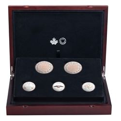 2017 Canada Legacy of the Penny Fine Silver 5-coin Set (outer sleeve and box is scuffed). TAX Exempt