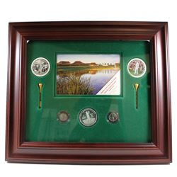 2004 $5 Canadian Golf and 10ct Coins with Frame issued by Canada Post and RCM.