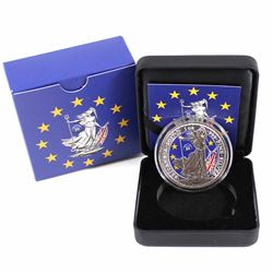 2017 Great Britain 1oz .999 Fine Silver Coloured Brexit Britannia. Only 200 ever made! (Tax Exempt)