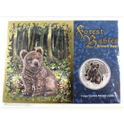 2013 Australia 50-cent Forest Babies - Brown Bear Fine Silver Coin (Tax Exempt).