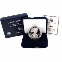 2013 American Eagle 1oz .999 Fine Silver Proof Coin in All Original Mint Packaging (COA is bent) (Ta