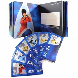 2018 Niue $1 Star Trek All 6x Different 5 gram .999 Fine Silver Cards with Collector's Album (Tax Ex
