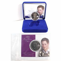 Pair of 2005 Alderney HRH Prince Henry of Wales 21st Birthday Commemorative Crowns. You will receive