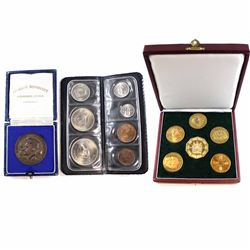 Lot of Rhodesian Coin Sets. You will receive a 6-coin Medallion set Commemorating the Rhodesian inde