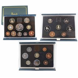 1983, 1988 & 1998 United Kingdom Proof Coin Collections in Original Hard Blue Folders with COAs (198