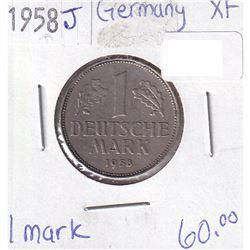 Germany 1958J 1 Mark XF