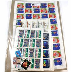 Lot of Canada Mint Stamps in Blocks, Sheets and Singles, Ranging from 2c to $2.00. Approximately $10