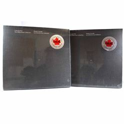 Lot of 2x 2000 Canada Post The Millennium Stamp Collections. Features 94 pages prestige-printed and
