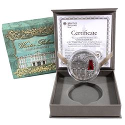2014 Niue $2 Saint Petersburg with Red Swarovski Crystal Winter Palace Series .999 Fine Antique Fini