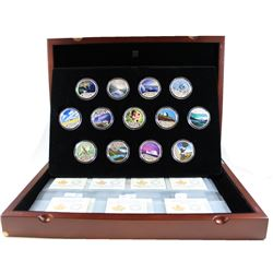 2017 $10 Celebrating Canada's 150th Anniversary Fine Silver 13-coin Coloured Set in Deluxe Box (corn