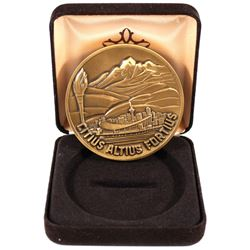 Rare 1988 Calgary Winter Olympics Bronze Participation Medal in Original Display Box (coin contains
