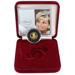 2007 Alderney 1 Pound Princess Diana the Legacy of a Unique Woman .999 Fine Gold Proof Coin in Red R