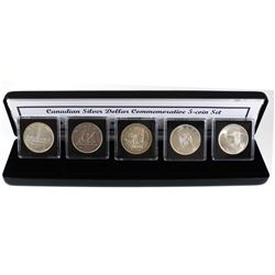 1939-1967 Canadian Silver Dollar Commemorative 5-coin Set. Features 5 different Commemorative Canadi