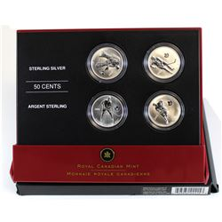 2005 Canada 50-cent Toronto Maple Leafs Hockey Legends Sterling Silver 4-Coin Set