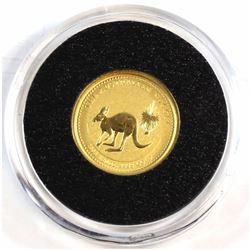 2005 Australia 1/20oz .9999 Fine Gold Australian Nugget in Capsule (Tax Exempt).