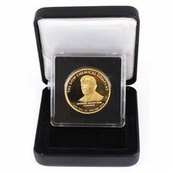 1993 The Dow Chemical Company 1oz .999 Fine Gold Coin Encapsulated in Black Display Box. Presented t