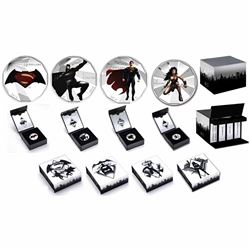 2016 Canada $10 Batman VS Superman: Dawn of Justice 4-coin Coloured Set in Deluxe Display Box. You w
