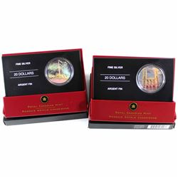 2006 Canada $20 Architectural Treasures - CN Tower & Notre-Dame Basilica Fine Silver Coins (CN Tower