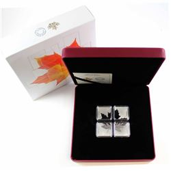 2017 Canada $3 Maple Leaf Quartet 1oz. Fine Silver Fractioned Coin (Tax Exempt).