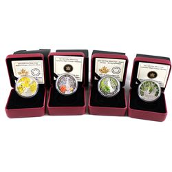 2013 & 2014 Canada $20 Maple Canopy Fine Silver Coin Collection (Tax Exempt). You will receive the 2