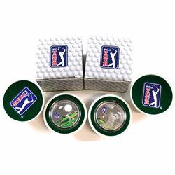 2012 & 2013 Cook Islands $5 PGA Tour 'Heritage, Sportsmanship, Respect' Commemorative Sterling Silve