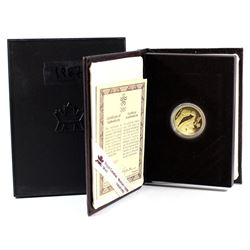 Canada 1987 $100 XV Olympic Winter Games 14K Gold Coin. Comes in original packaging with COA. Coin c