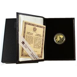 Canada 1990 $100 International Year of Literacy 14K Gold Coin. Comes in original packaging with COA.