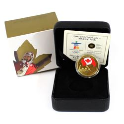 Canada 2007 $75 Olympic Games - Athletes Pride 14K Gold Coin.
