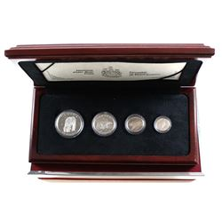 Canada 1990 Polar Bear Platinum 4-coin RCM Issue Set (Tax Exempt). Sets comes displayed in a stunnin