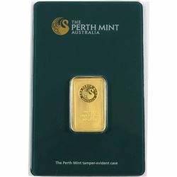 Perth Mint 10g .9999 Fine Gold Bar in Sealed Hard Plastic (Tax Exempt).