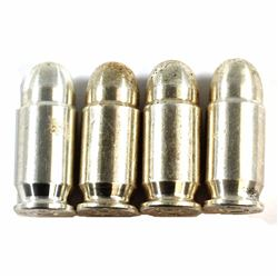 Lot of 4x .45 Caliber AC 1oz .999 Fine Silver Bullets (toned) 4pcs (Tax Exempt).