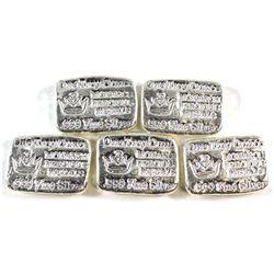 Lot of 1oz Monarch Precious Metals .999 Fine Silver Poured Bars. 5pcs (Tax Exempt).