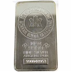 10oz Royal Canadian Mint .9999 Fine Silver Bar (lightly scratched) TAX Exempt