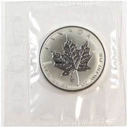 2007 Canada 1oz .9999 Fine Silver F12 Privy Maple Leaf Sealed in Original Plastic (one small toning