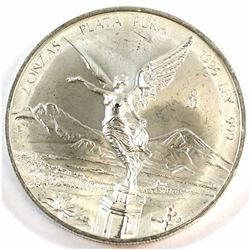 RARE 1996 Mexico 2oz .999 Fine Silver Libertad (Tax Exempt).