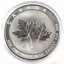 2019 Canada $50 Magnificent Maple Leaves 10oz .999 Fine Silver Coin in Capsule (Tax Exempt).