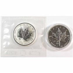 2009 Brandenburg Gate & 2009 London Bridge Canada 1oz .9999 Fine Silver Privy Maple Leafs. Brandenbu